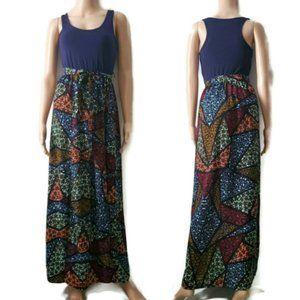 Love Fire Women's Belted Printed Maxi Summer Dress